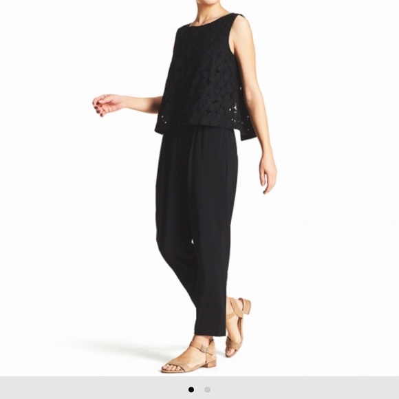 a7ebd099679 Uniqlo black lace sleeveless jumpsuit. M 5b08814736b9def327ae477a